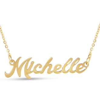 Michelle Nameplate Necklace In Gold