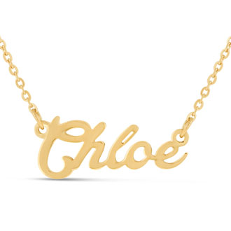 Chloe Nameplate Necklace In Gold