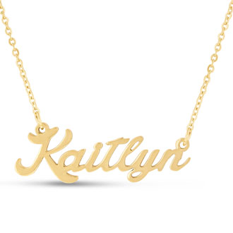 Kaitlyn Nameplate Necklace In Gold