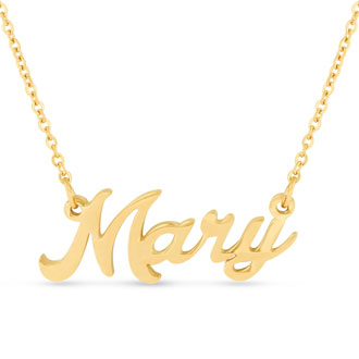 Mary Nameplate Necklace In Gold
