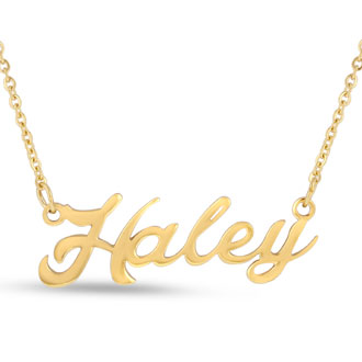 Haley Nameplate Necklace In Gold