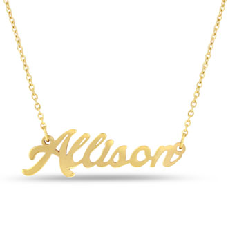 Allison Nameplate Necklace In Gold