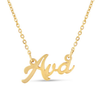 Ava Nameplate Necklace In Gold