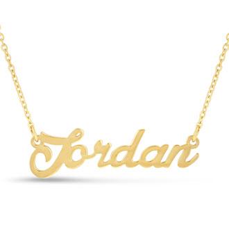 Jordan Nameplate Necklace In Gold