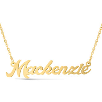 Mackenzie Nameplate Necklace In Gold