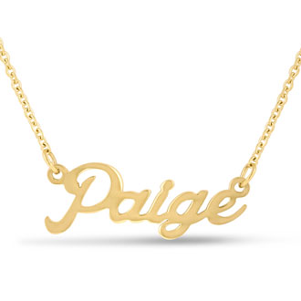 Paige Nameplate Necklace In Gold