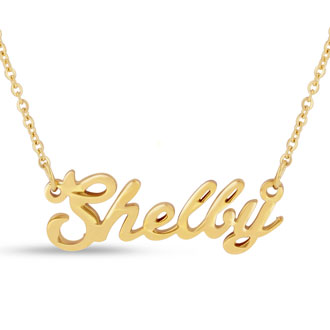 Shelby Nameplate Necklace In Gold