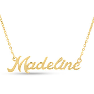 Madeline Nameplate Necklace In Gold
