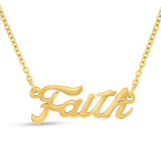 Faith Nameplate Necklace In Gold