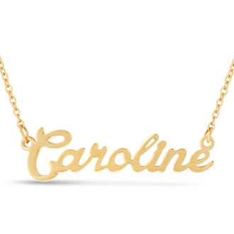 Caroline Nameplate Necklace In Gold