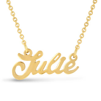 Julie Nameplate Necklace In Gold