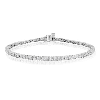 2 Carat Diamond Tennis Bracelet in Solid White Gold. Very Popular Diamond Bracelet!