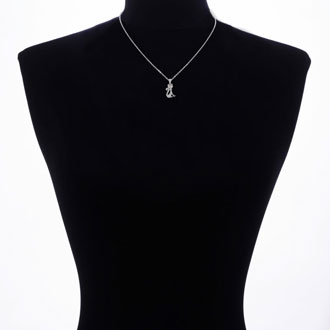 Black Diamond Cat Necklace