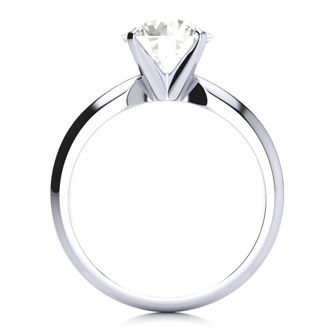 2 Carat Diamond Solitaire Engagement Ring In 14K White Gold