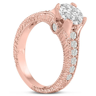 1.67ct Round Brilliant Diamond Engagement Ring Crafted in 14 Karat Rose Gold