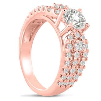 1 1/5 Carat Round Brilliant Diamond Engagement Ring In 14 Karat Rose Gold