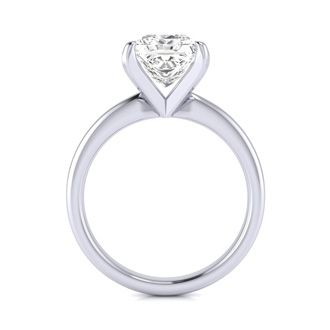 2 1/2 Carat Princess Cut Diamond Solitaire Engagement Ring In 14K White Gold
