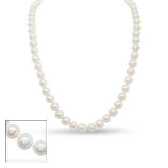 18 inch 10mm AA Pearl Necklace with 14k Yellow Gold Clasp
