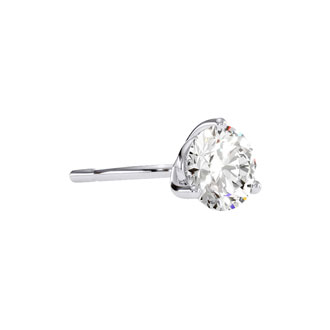 1 Carat Round Diamond Stud Earrings in 14 Karat White Gold with Martini Setting