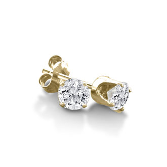 1/3ct Certified Diamond Stud Earrings in 10k Yellow Gold