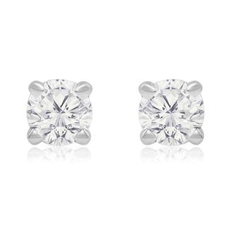 1/4 Carat Diamond Stud Earrings In White Gold