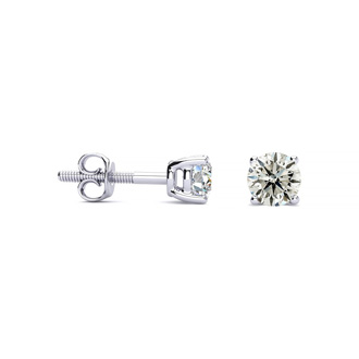 1/2 Carat Diamond Stud Earrings In Platinum Featured on Dr. Phil