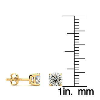 1 Carat Diamond Stud Earrings In 14 Karat Yellow Gold