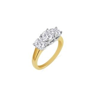 1/4ct Three Diamond Ring in 14k Yellow Gold