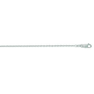 Round Cable Chain in 14k White Gold, 18 inches