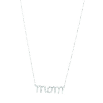 Spoil Mom with this 18 inch CZ Necklace