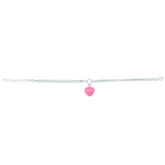 Exquisite rose puffed heart dangle necklace all in sterling silver