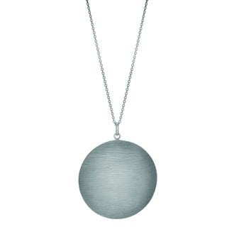Interesting wood textured Sterling Silver necklace 18 inches