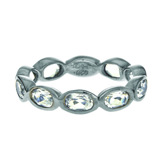 Phillip Gavriel Organic Eternity Ring Rock Crystal size 6-9