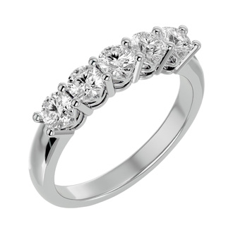 1ct Five Diamond Ring in White Gold