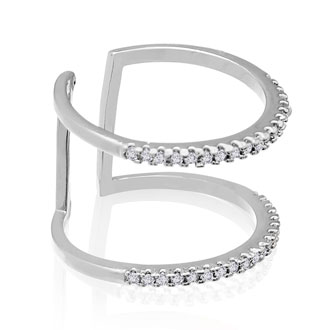 Micropave Crystal Spacer Ring