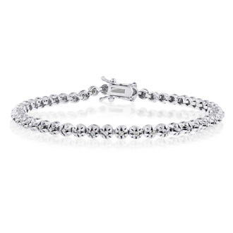 1ct Round Diamond Tennis Bracelet. Classic Design.  Back In Stock After Years!  Grab One!