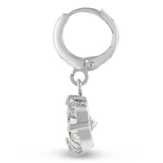 5 Carat Swarovski Elements Crystal Hoop Earrings In Silver