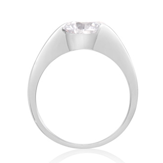 2 Carat Crystal Solitaire Engagement Ring