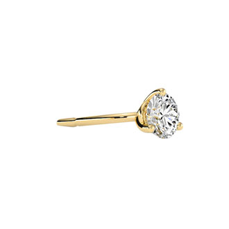 1/4ct Natural Genuine Diamond Stud Earrings In Martini Setting, 14 Karat Yellow Gold