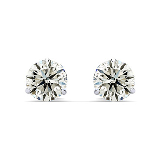 SPECIAL PURCHASE!  1ct Diamond Stud Earrings in 14k White Gold Martini Setting.