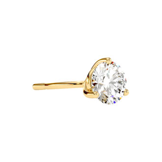 1ct Natural Genuine Diamond Stud Earrings In Martini Setting, 14 Karat Yellow Gold