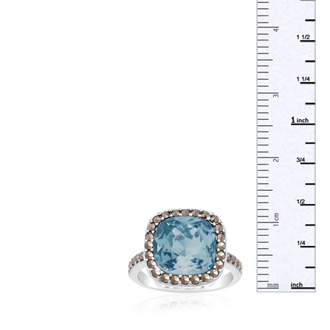 4ct Crystal Aquamarine and Marcasite Ring