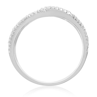 Sterling Silver Cubic Zirconia Spatial Ring