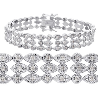 Grab This Beautiful Bracelet Instead!   1ct Vintage Diamond Bracelet. Wonderful Antique Model Lends A Retro Look & Feel