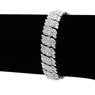 2ct Diamond Petal Bracelet