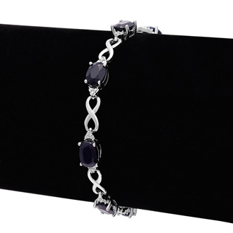 9ct Sapphire and Diamond Bracelet