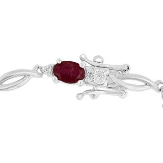 7ct Ruby and Diamond Bracelet