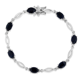 7ct Sapphire and Diamond Bracelet