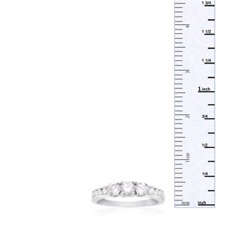 1/2 Carat Engagement Three Diamond Ring In White Gold. Beautiful Ring At An Amazing Price