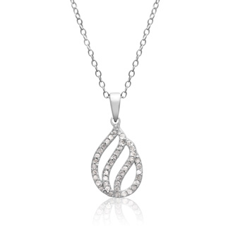 1/4ct Diamond Teardrop Necklace